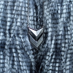 Statement chevron pendant