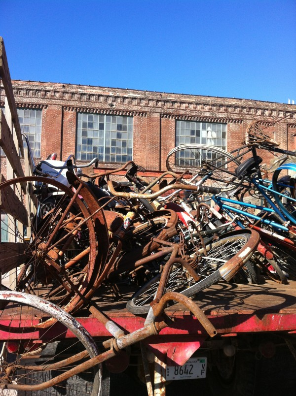 Bikes at Junque Salvage.  January 2013