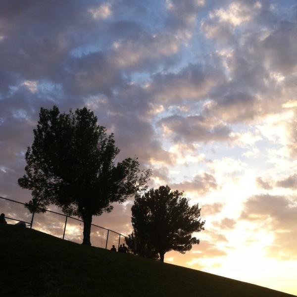Verizon Amphitheater St Louis sunset