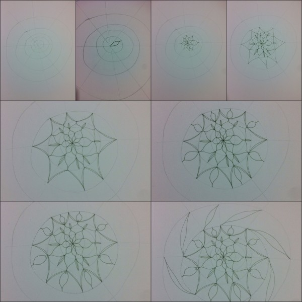 How to draw a freeform Mandala