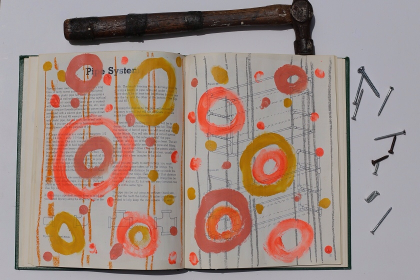 how to make a sketchbook out of an old book